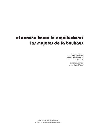 El camino hacia la arquitectura, las mujeres de la Bauhaus JOSENIA_HERVAS_Y_HERAS_1