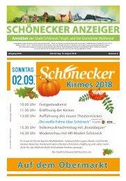 Schönecker Anzeiger August 2018