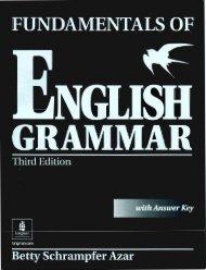 fundamentals of english grammar third edition with answer key