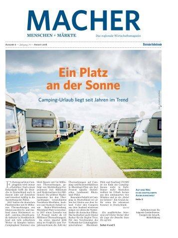 Macher Menschen + Märkte - Ausgabe 6, August 2018