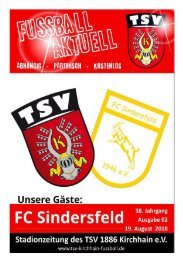 19.08.2018 Stadionzeitung FC Sindersfeld