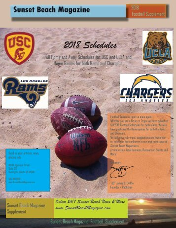 2018 USC UCLA Football Schedules