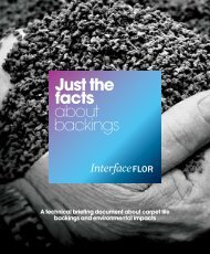 of carpet tile backings - Interface