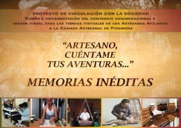 INFORME DEL DISEÑO DE LAS MEMORIAS ARTESANALES