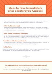 Get Legal Consultation From New Jersey Motorcycle Accident Attorney