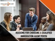 Reasons for choosing a qualified Migration Agent - Immigration Agent Perth