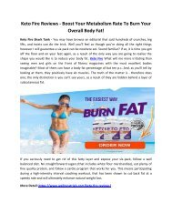 Keto Fire Benefits - Gives You Slim & Attractive Figure!