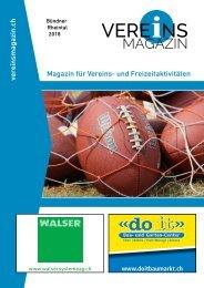 Vereinsmagazin Buendner Rheintal Ausgabe 2 online