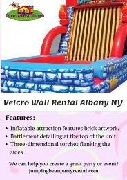Inflatable Velcro Wall Rental Albany NY
