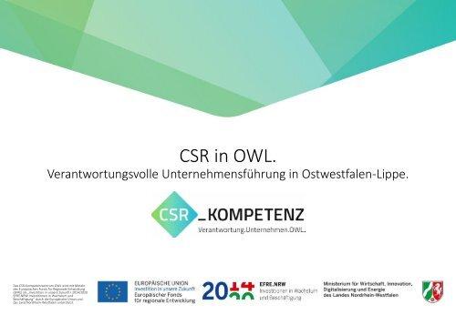 CSR in OWL. Verantwortung.Unternehmen.OWL.