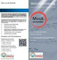 Welt-Alzheimertag 2018 (Flyer)