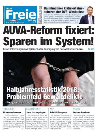 AUVA-Reform fixiert: Sparen im System!