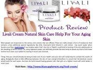Livali Cream Beautifying Skin Cream For All Skin Types!