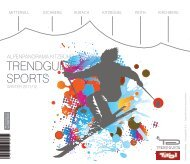 trendguide Sports Alpenpanorama Kitzbühel Winter 2011/2012