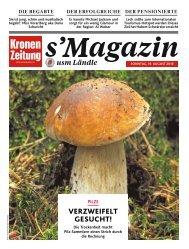 s'Magazin usm Ländle 19. August 2018
