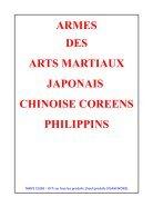 Catalogue Sabretooth armes des Arts Martiaux Japonais Chinois Philippins Brésiliens saison 2018-2019 - Page 2