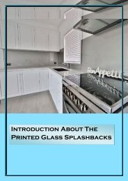 Printed Glass Splashbacks To Give Your Kitchen A Artistic Look!