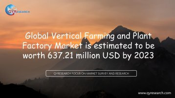 Global Vertical Farming and Plant Factory Market is estimated to be worth 637.21 million USD by 2023