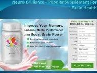 Neuro Brilliance - Popular Supplement For Brain Health
