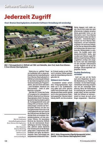 2018-08 PC & Industrie - Anwenderbericht Knorr-Bremse SteeringSystems