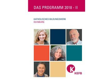 Duisburg KBW @KEFB Bistum Essen Programm 2-2018