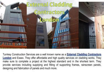 External Cladding Contractors London