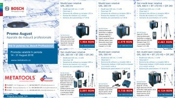 Nivele laser rotative Bosch