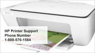 HP Printer Support Phone Number  1-888-576-1584
