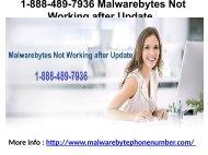 1-888-489-7936 Malwarebytes Not Working after Update
