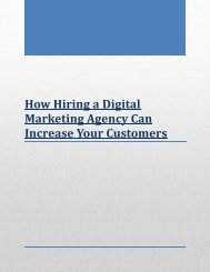 How Hiring a Digital Marketing Agency Can Increase Your Customer