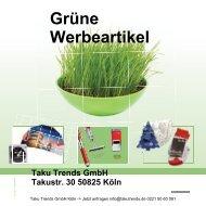 Grüne Werbeartikel