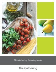 The Gathering Catering Guide - Fall 2018