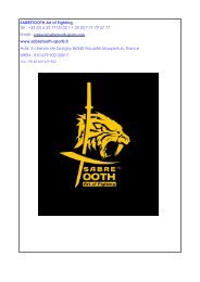 catalogue sabretooth taekwondo +hapkido saison 2018-2019