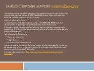 Yahoo customer support +1 877-336-9533