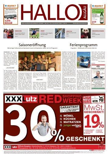 Hallo-Allgäu Memmingen vom Samstag, 18.August