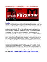 Boost Your Mucle Growth according to body with Peak Physicor