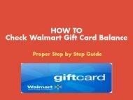 How to Check Walmart Gift Card Balance | Green Bill