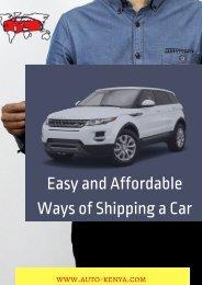 Shipping Cars to Mombasa | Auto Kenya