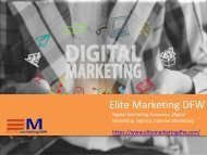 Get in Touch With one of the Best digital marketing company dallas