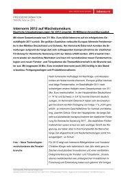 Internorm 2012 auf Wachstumskurs - Internorm-Fenster AG