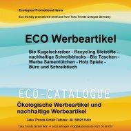 Eco Werbeartikel ökologische Werbeartikel