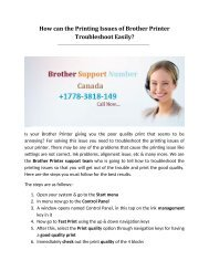 How the Printing Issues of Brother Printer can Troubleshoot Easily