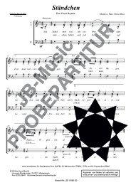Ständchen (für Gemischten Chor SATB und SAM)