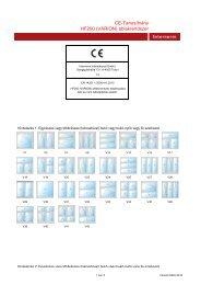CE-Tanusítvány HF200 (VARION) ablakrendszer - Internorm ...
