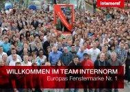 Arbeitgeberfolder. - Internorm-Fenster AG