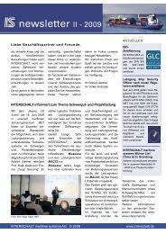 AKTUELLES INTERSCHALT maritime systems AG © 2009 www ...
