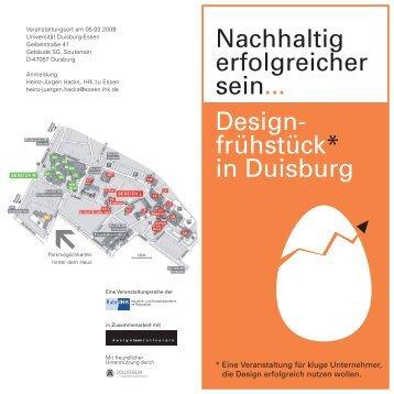Design- frühstück* in Duisburg Nachhaltig ... - GFW-Duisburg