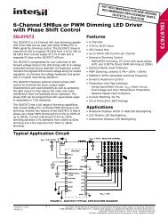 ISL97673 6-Channel SMBus or PWM Dimming LED Driver ... - Intersil