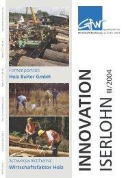 Innovation Iserlohn 03/2004 - Gesellschaft für Wirtschaftsförderung ...