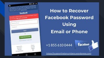 Easiest Way to Recover Facebook Password Using Email and Phone Number